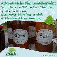 Adventi Helyi Piac a Historia Kertben